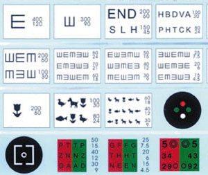 Електронна таблица за проверка на зрението